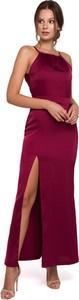 Sukienka Merg maxi prosta bez rękawów
