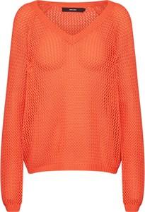 Pomarańczowy sweter Vero Moda w stylu casual z dzianiny