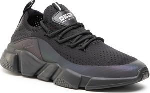 Czarne buty sportowe Big Star sznurowane na platformie