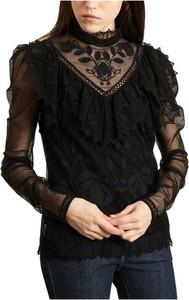 Czarna bluzka SEE BY CHLOE z bawełny w stylu boho z długim rękawem