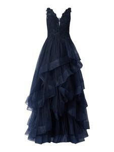 Granatowa sukienka Unique maxi