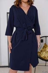 Sukienka tono.sklep.pl z długim rękawem z dekoltem w kształcie litery v