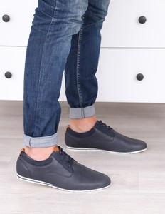 Czarne buty sportowe Damle sznurowane