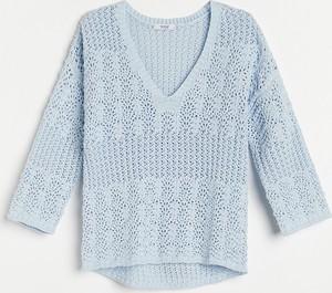 Niebieski sweter Reserved w stylu casual