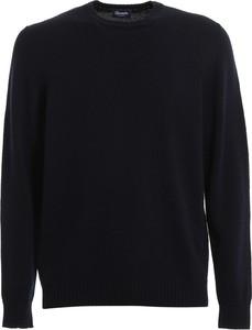 Niebieski sweter Drumohr z wełny w stylu casual