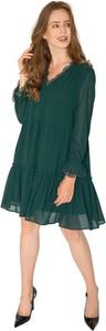 Sukienka Milena Płatek z dekoltem w kształcie litery v mini