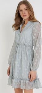 Sukienka born2be mini trapezowa z długim rękawem