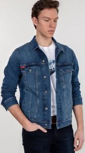 Granatowa kurtka Lee Cooper z jeansu