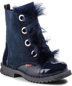 Niebieskie buty dziecięce zimowe Zarro