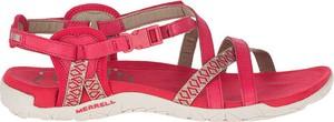 Czerwone sandały Merrell w stylu casual