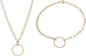Irbis.style srebrny pozłacany komplet biżuterii - bransoletka i naszyjnik