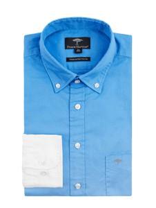 Niebieska koszula Fynch Hatton z bawełny z długim rękawem