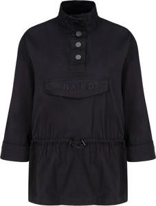 Czarna kurtka NA-KD w stylu casual krótka