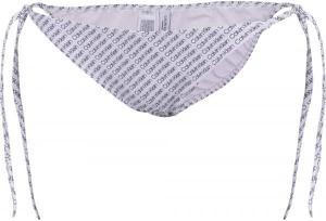 Fioletowy strój kąpielowy Calvin Klein z nadrukiem