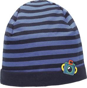 Niebieska czapka Maximo z bawełny