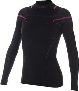 Damska termo koszulka Brubeck Thermo Longsleeve Black-Pink S