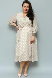 Sukienka KARKO w stylu retro z szyfonu
