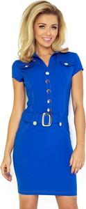 Sukienka NUMOCO mini z kołnierzykiem