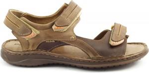 Brązowe buty letnie męskie butyolivier.pl w stylu casual