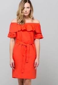 Pomarańczowa sukienka Monnari z bawełny