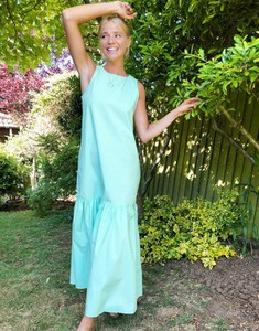Zielona sukienka Monki z bawełny midi