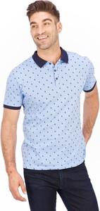 Turkusowa koszulka polo Lanieri Fashion