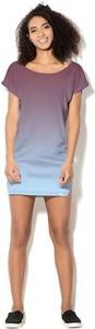 Sukienka COLOUR PLEASURE z dzianiny mini z krótkim rękawem