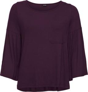 Fioletowy t-shirt bonprix BODYFLIRT