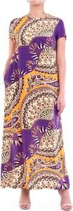Sukienka Jucca dla puszystych z krótkim rękawem z okrągłym dekoltem