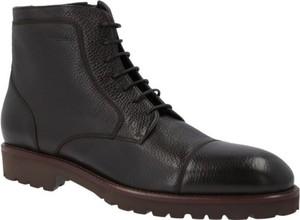 Czarne buty zimowe Hugo Boss sznurowane w stylu casual