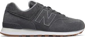 Czarne buty sportowe New Balance 574 w street stylu sznurowane