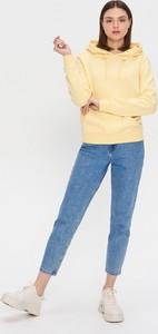 Żółta bluza House krótka w młodzieżowym stylu