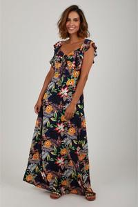 Sukienka Summer Dresses z dekoltem w kształcie litery v w stylu boho maxi
