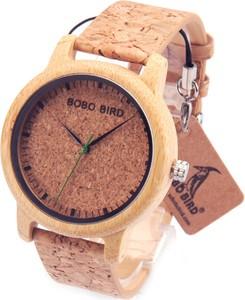 Męski drewniano-korkowy zegarek naturalny BOBO BIRD
