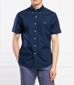 Niebieska koszula POLO RALPH LAUREN z krótkim rękawem w stylu casual