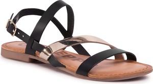 Czarne sandały eobuwie.pl z klamrami