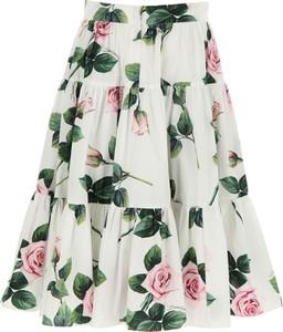 Spódniczka dziewczęca Dolce & Gabbana w kwiatki z bawełny
