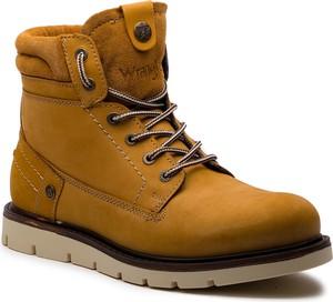 Brązowe buty zimowe Wrangler w stylu casual