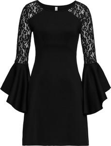 6394d6b19 Sukienki koronkowe z długim rękawem bonprix, kolekcja lato 2019