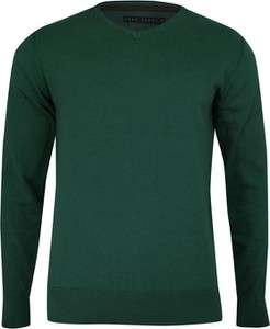 Zielony sweter Just yuppi z bawełny