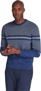 Niebieski sweter Lyle & Scott z bawełny