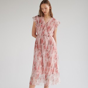 Sukienka Reserved z tkaniny z dekoltem w kształcie litery v