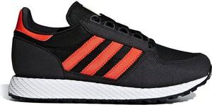 Czarne buty sportowe Adidas Originals w sportowym stylu sznurowane