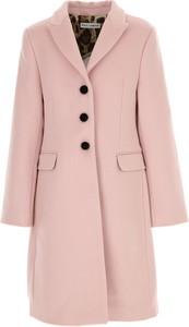 Różowy płaszcz Dolce & Gabbana z wełny