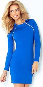 Sukienka NUMOCO dopasowana z krótkim rękawem