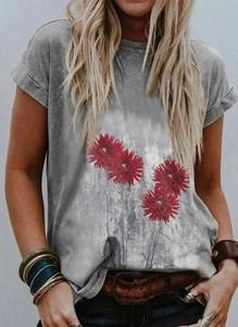 Bluzka Sandbella z krótkim rękawem z okrągłym dekoltem