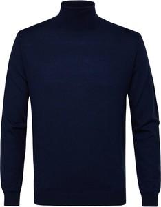 Niebieski sweter PROFUOMO z wełny w stylu casual