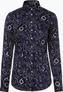 Niebieska bluzka Franco Callegari w stylu casual z długim rękawem