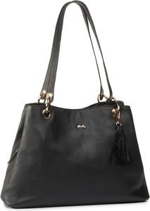 Czarna torebka ara na ramię średnia matowa