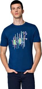T-shirt LANCERTO z bawełny z nadrukiem z krótkim rękawem